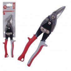 Ножиці по металу 250 мм ліві Cr-V INTERTOOL HT-0178