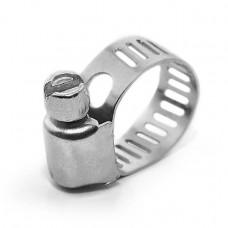Хомут стальной оцинкованный 8 мм D 6-16 мм (упаковка 10 шт) INTERTOOL TC-0006