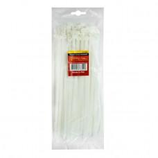 Хомут пластиковый 7,6x350 мм, (100 шт/упак), белый INTERTOOL TC-7635
