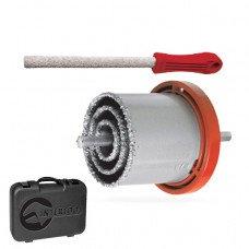 Набір корончатых свердел для плитки 5 од. 33-83 мм, вольфрамове напилення напилок і валізу INTERTOOL SD-0428