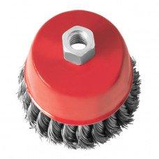 Щетка чашечная 85 мм, для УШМ, М14 (пучки витой проволоки) INTERTOOL BT-2085