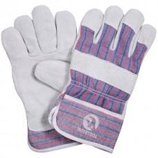Перчатка комбинированная из высококачественной козьей кожи и ткани 10