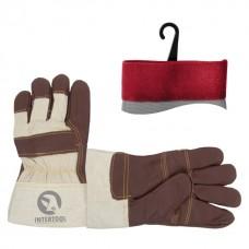 Перчатки кожаные, замшевые