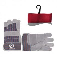 Перчатка комбинированная из замша и ткани 10,5