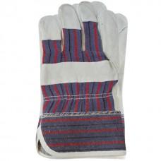 Перчатка замшевая комбинированная из цельного материала на ладони 10,5