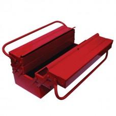 Ящик для инструментов металлический 450 мм, 5 секций INTERTOOL HT-5045