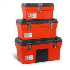 Комплект ящиків для інструментів з металевим замком, 3 шт INTERTOOL BX-0006